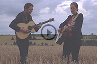 Catherine MacLellan and Chris Gauthier playing in country field