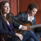 Credit: John Sylvester - Catherine and Chris Gauthier with acoustic guitars