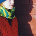 Credit: Edoardo Lapegna - Catherine in knit winter clothes against brick wall
